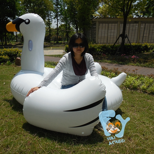 75inch giant inflatable swan pool toy swimming float for Huge inflatable swimming pool