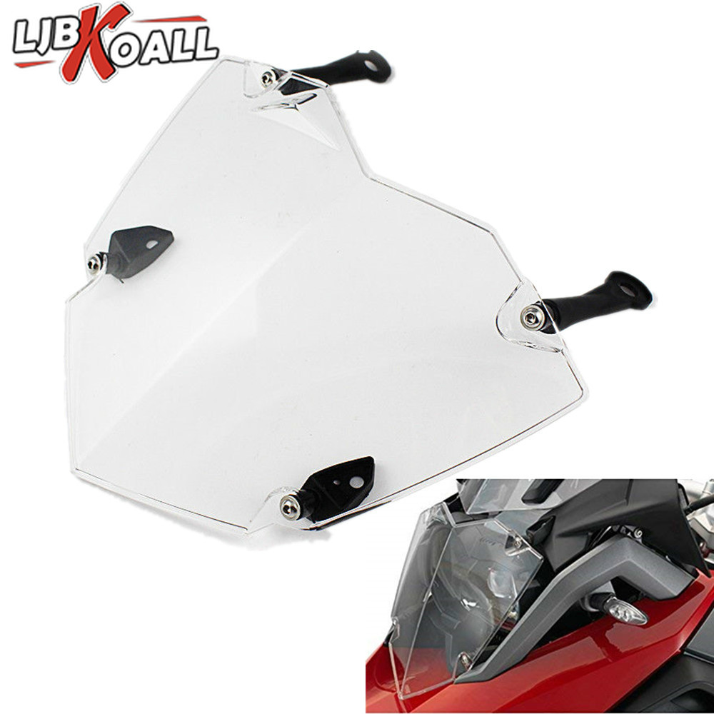 Transparent Motorcycle Headlight Guard Headlight Protector Cover For <font><b>BMW</b></font> R1200GS R <font><b>1200</b></font> <font><b>GS</b></font> LC <font><b>Adventure</b></font> 2013 2014 <font><b>2015</b></font> 2016 2017 image