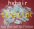 Freeshipping - 2000pcs Italy Glue Nail Tip / High Quality Glue Keratin / Transparent