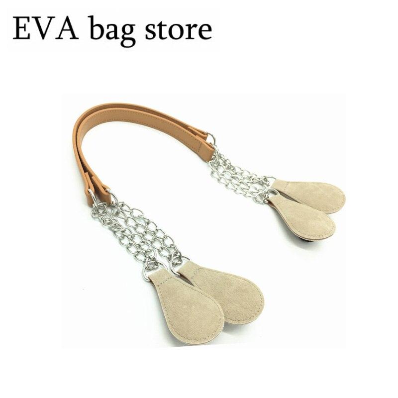 Nuevo diseño de venta caliente cuerda cáñamo 65 cm bolsos orejas manijas para justo bolsa para OBAG