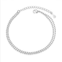 Everoyal New Arrival Female Silver 925 Anklets Jewelry Women Fashion Bracelet For Girls Accessories Lover Valentine Day