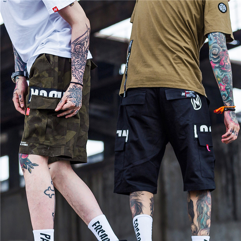 0c7ed163e9b5 Aelfric Eden Cargo Shorts Men Hip Hop Summer Streetwear Letter Print  Camouflage Print 2019 New Fashion Knee Length Short Joggers-in Casual Shorts  from Men's ...
