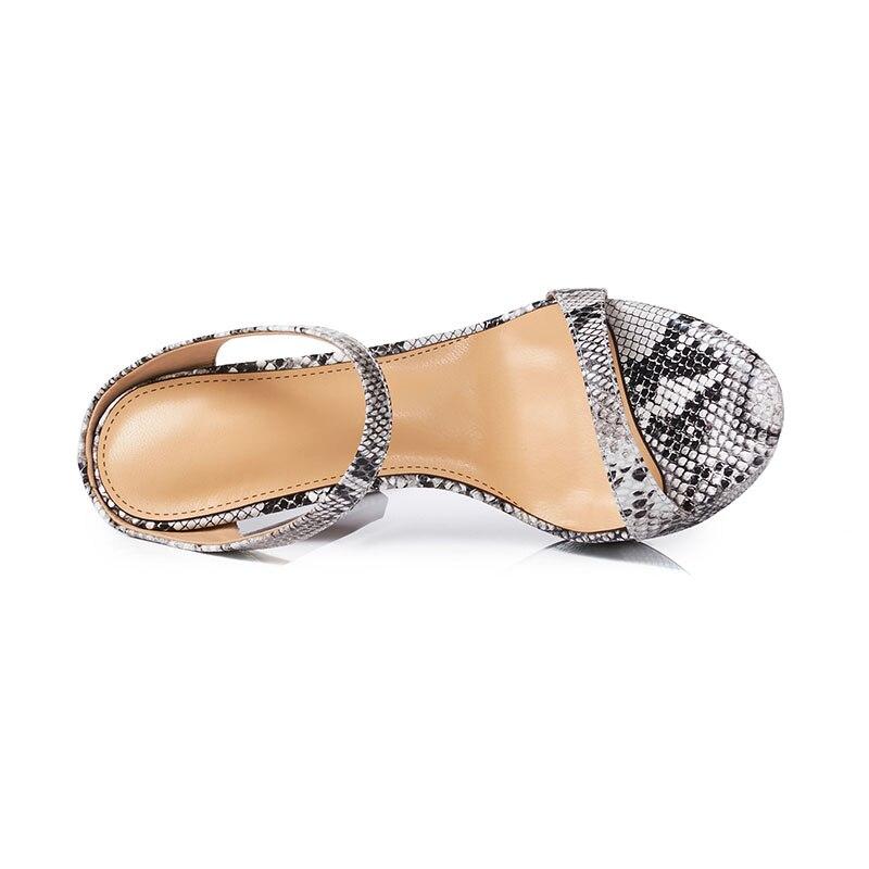 fb48e0cd6408f Dames De Or argent Serpent Nouveau Plate Motif Sexy Haute forme Pantoufles  Super Cm Partie Talon Chaussures Cuir Femmes ...