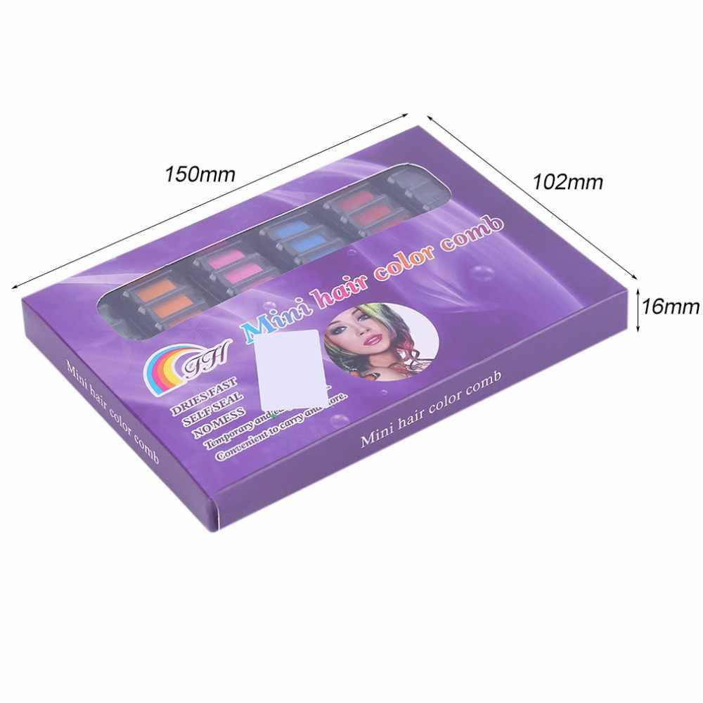 6 pièces/ensemble Mini Salon personnel jetable utilisation cheveux colorant peigne professionnel Crayons pour cheveux couleur craie cheveux teinture outil nouveauté