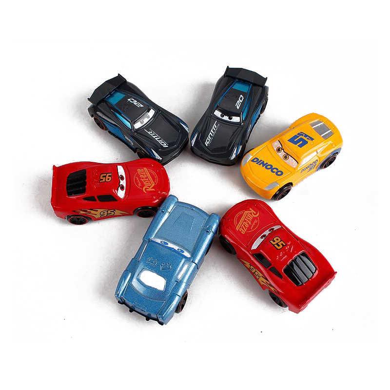 7Pcs/set Disney Pixar Cars 3 Lightning McQueen Jackson Storm Cruz Mater Mack Uncle Truck Diecast Car Model Toy Free Delivery