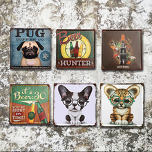 Retro Decorative Metal Plaques Vintage Metal Wall Art Cartoon Poster Tin Signs Iron Sign Plate For Bar Office Home Decoration
