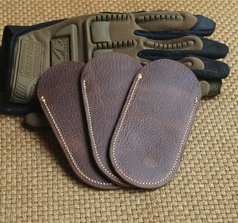 EDC Tools Scalp Leather Case Genuine Leather Knife Set Folding Knife Leather Scabbard Suitable For Folding Knife Length 10-13cm