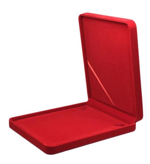 19 × 24 × 4 センチメートルビッグサイズベルベットのジュエリーボックスネックレスボックスギフトボックス色選択のための