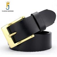 FAJARINA Brand Quality Fashion Jeans Strp Cowhide Genuine Leather Mens Pin Buckle Belts for Men 38mm Wide Freeshipping NW0145