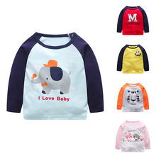 Toddler Infant Kids Baby Boys Girls Cartoon Letter Tops T-Shirt .Stylish and fashion design Outfits Clothes(China)