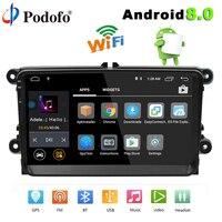 Podofo 2 din Автомагнитолы Android 8,0 Авторадио 9 HD Сенсорный экран gps навигация Bluetooth Мультимедиа USB Wi Fi MP3 автомобиля MP5 плеер