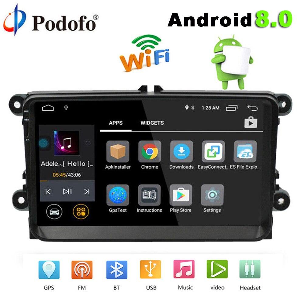 Podofo 2 din Autoradio Android 8.0 Autoradio 9