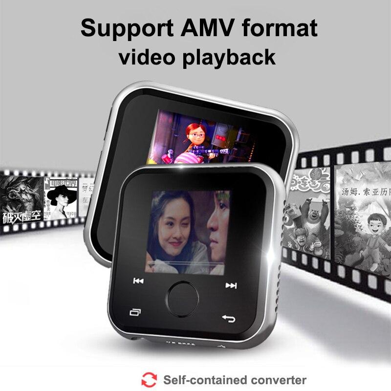 HBNKH USB Mini lecteur MP3 Bluetooth 4.2 lecteur de musique vidéo Portable HIFI FM Radio enregistreur vocal 1.8 'écran tactile avec haut-parleur - 4