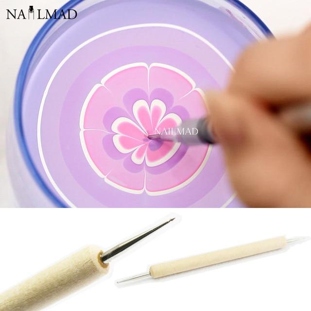 1pc Watermarble Tool Nail Art Dot Dotting Pen Nail Dotticure Tool