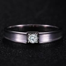 0 20ct GIA Diamond Ring Men Solitaire Natural GIA Diamond Solid 18K White Gold Handmade Wedding