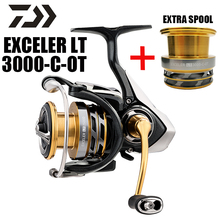 DAIWA Exceler Lt Original 3000C-OT LT with Folding Handle Extra Spool Concept Low Gear Ratio Spinning Fishing Wheel