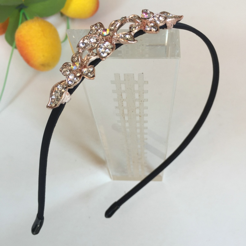 Korean Jewelry Shine Rhinestone Headband Flower Flora Princess Bride Hairband Tiara Crown Cute Elsa Hair Accessories Headbands zx 1038 elegant gorgeous rhinestone bride tiara golden size m