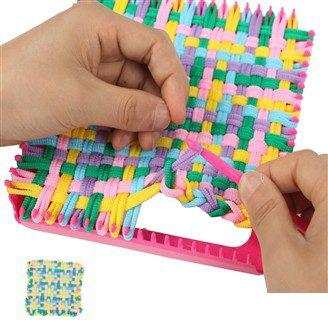 6 Colors Loop Weave Girls Carpet Craft Kits My First Handmade Toys Educational Mat Kids
