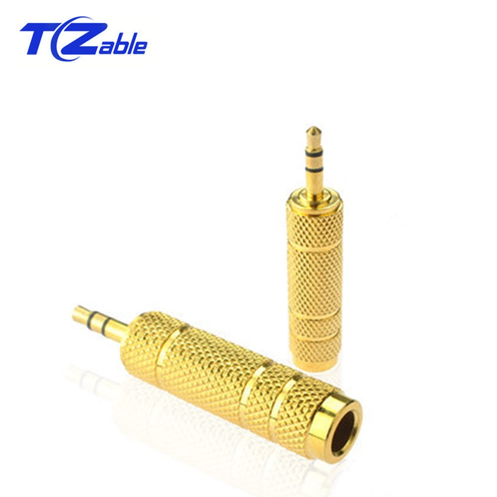 Advanced Gold-Plated Dual Channel 3.5mm To 6.5mm Conversion Plug 3.5 Male To 6.5 Female Audio Stereo Jack New Microphone Adapter
