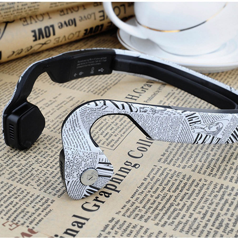 Bluetooth 4.0 Wireless Portable Bone Conduction Ear Hook Sports Headset With Mic Hifi Stereo Siri NFC Headphone For Iphone,Meizu