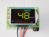 Electric Vehicle LCD Meter Battery Car Electricity Meter Speed Accumulated Mileage Temperature Time Time Color Table