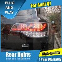 2 шт Автомобиль Стайлинг для Audi Q7 задние фонари 2006 2009 для Q7 светодиодный задний фонарь + поворотник + тормоза + обратный светодиодный свет