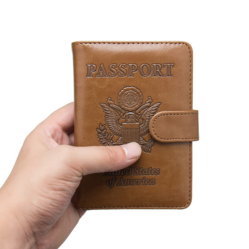 Coin Purses & Holders Card & Id Holders Usa Oil Portable Magnet Buckle Passport Cover Travel Passport Holder Built In Rfid Blocking Protect Personal Information