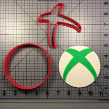 Video Game Xbox X Cookie Cutter set Cake Baking Mould Custom Made 3D Printed Set Fondant Molds Cutters