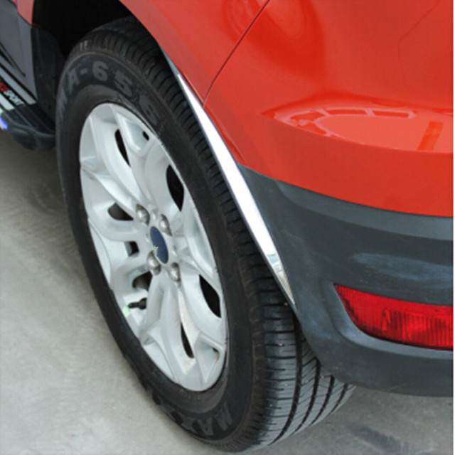 Carmilla-garniture à sourcil ABS   Autocollant décoratif de bande lumineuse pour Ford Ecosport 2012 2013 2014 2015 2016, accessoires