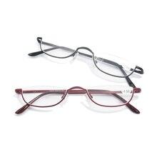 8f611438f6f8 2018 Retro Half Rim Reading Glasses High quality Metal Frame Eyeglasses Men  Women Oculos de grau