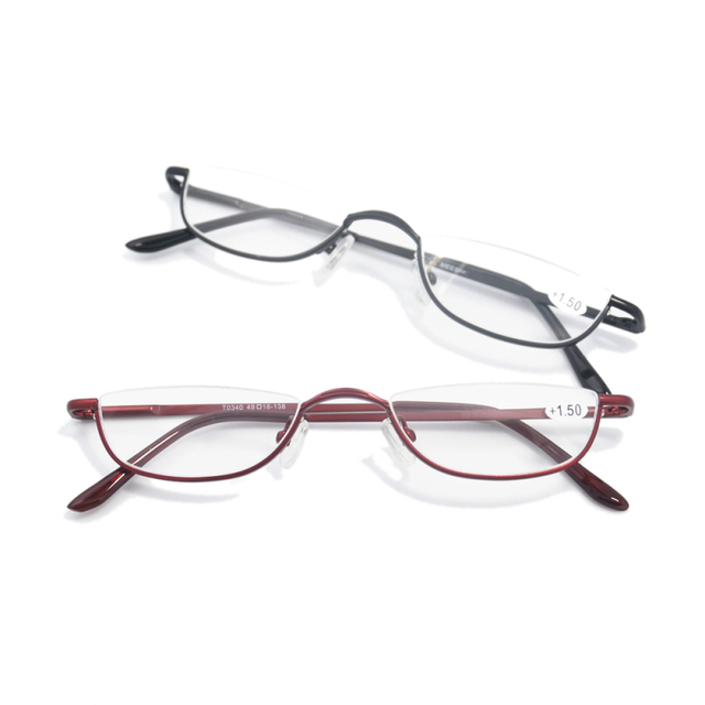 6e7c37275fb8 2018 Retro Half Rim Reading Glasses High quality Metal Frame Eyeglasses Men  Women Oculos de grau +1.0+1.5+2.0+2.5+3.0+3.5+4.0