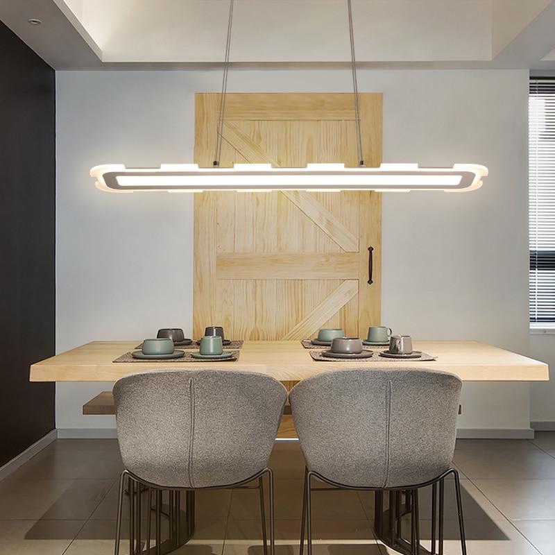 Işıklar ve Aydınlatma'ten Kolye ışıkları'de Uzunluğu 40 120cm beyaz asılı lamba, Modern LED kolye ışıkları yemek odası için mutfak hanglampen LED kolye lamba armatürleri Omicron Store