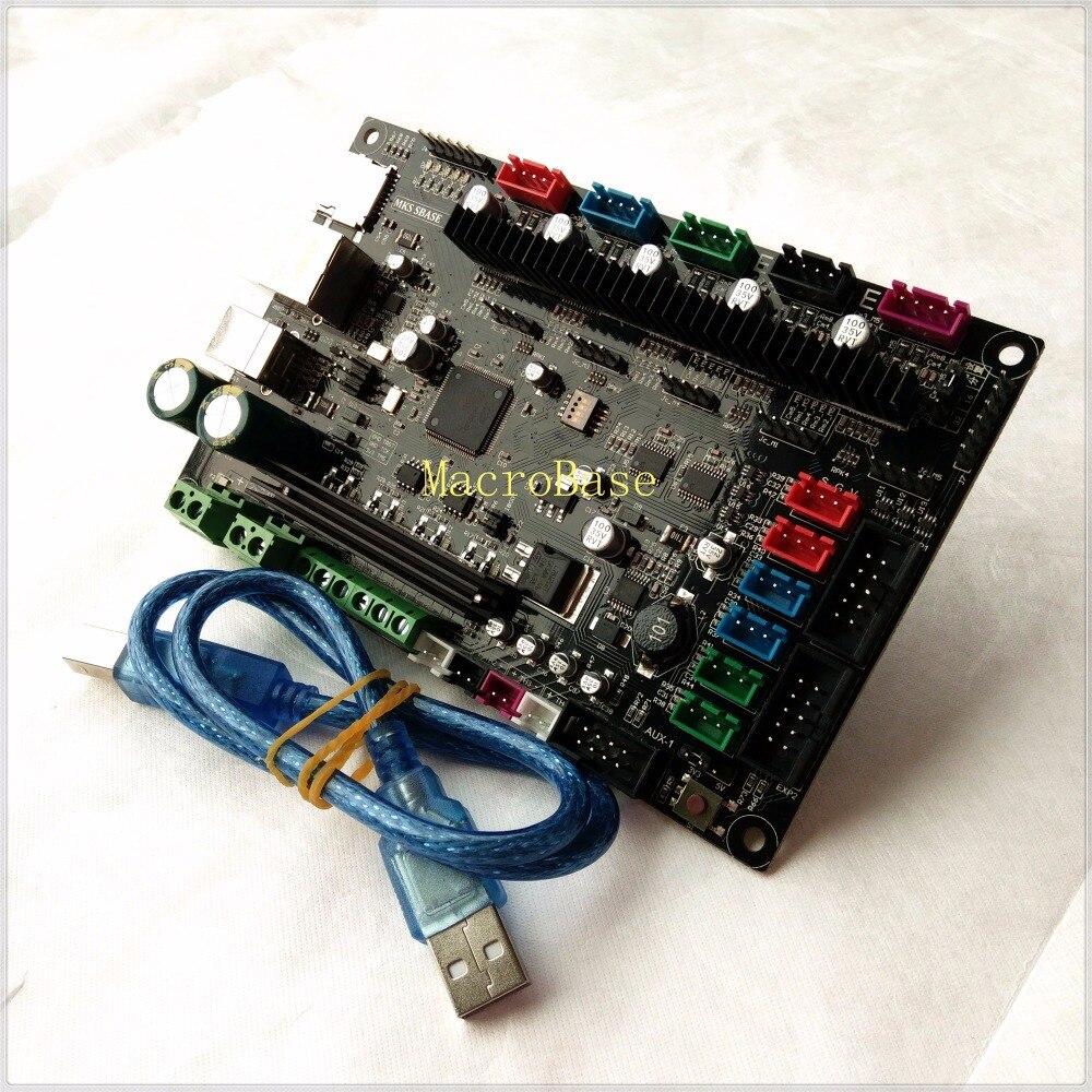 MKS SBASE V1 3 3D printer motherboard controller 32 bit ARM Cortex Smoothieware integrated Microcontroller Smoothie
