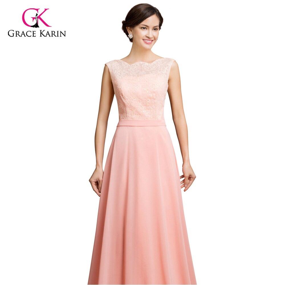 Gasa + cordón largo vestidos de noche de la princesa grace karin ...