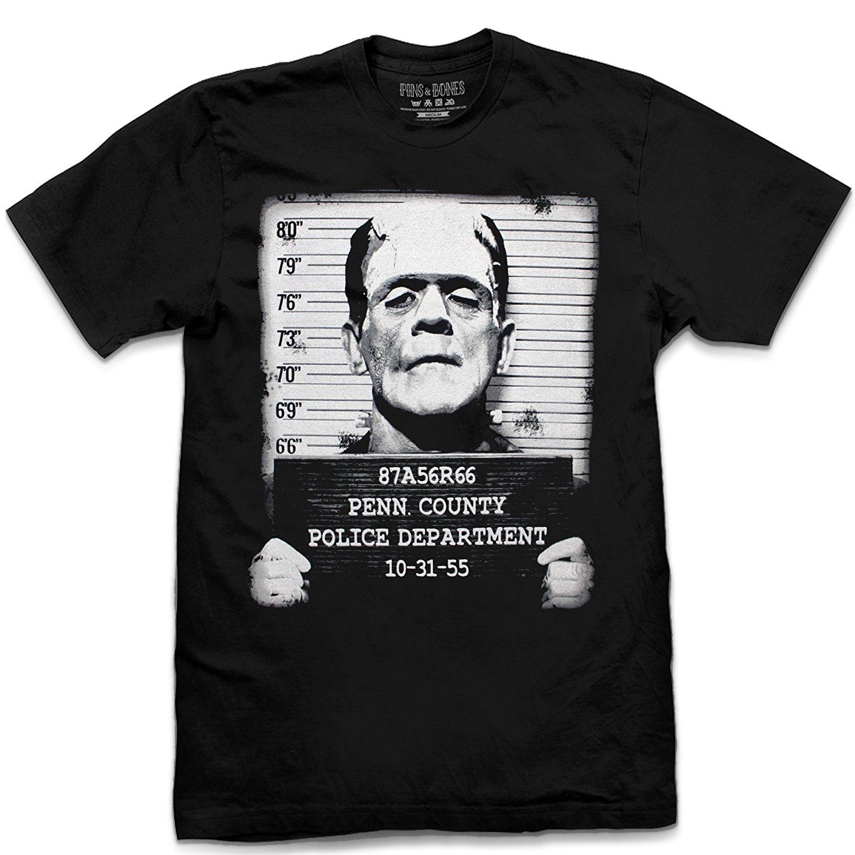 Leqemao пальцы и кости Франкенштейн лицо кружка выстрел Ретро, черная футболка летние Рубашка с короткими рукавами модные хлопковые Для мужчин...