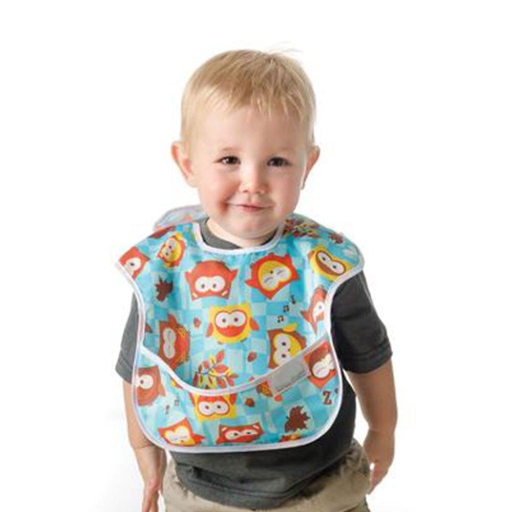 Ohbabyka Baby Feeding Waterproof Pocket Superbib Big Ergonomic Easy Clean Adjustable Hook-Loop Bibs Infant Burp Apron Clothes