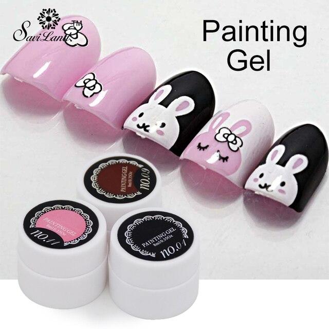 Saviland 1pcs Painting Gel Polish Pure Shiny Color UV Gel Manicure ...