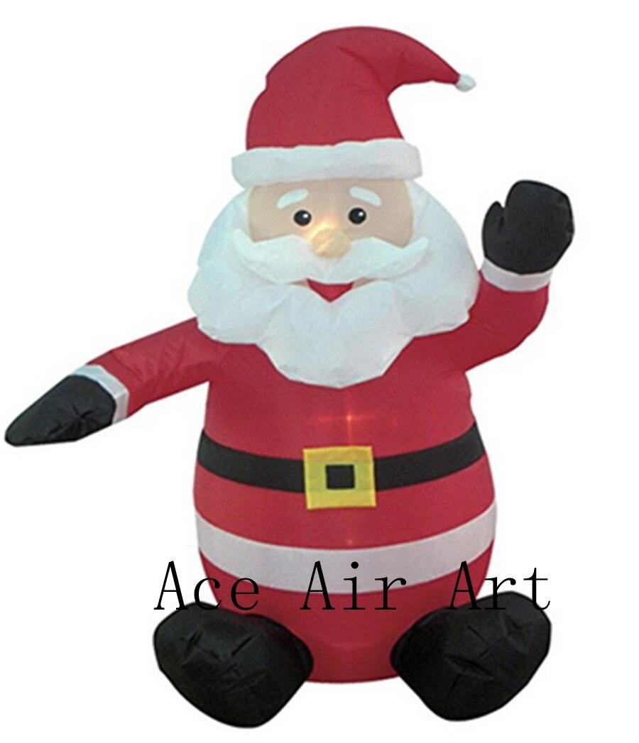 Гигантская рекламная надувные рождественские декорации дешевые рождественские надувной Санта Клауса