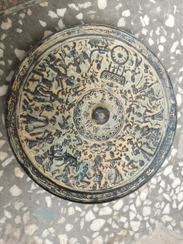 CHINESE FOLK  OLD Collection Bronzeware  mirror feng shui large-scale bronze mirror