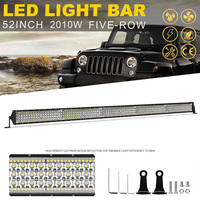 YNROAD 2010w 50inch five rows Led slim Light Bar offroad bar combo beam for Hunting Driving Offroad Light