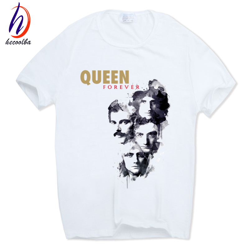 Men Women Print FREDDIE MERCURY   T  -  shirt   O-Neck Short sleeves Summer Heavy Rock top100 band queen   T     Shirt   HCP627