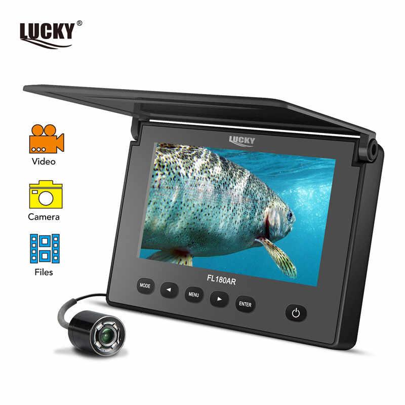 "Russian menu!LUCKY underwater Fish Finder  fishing camera Ice Fishing Camera 4.3"" LCD Monitor sport video camera underwater"