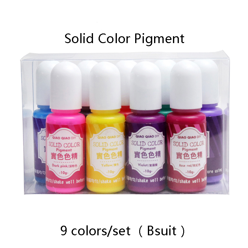9colors/set B Suitsolid Resin Dye Epoxy Resin Pigment UV Resin Coloring Dye Colorant Resin Pigment DIY Handmade Crafts Art Sets