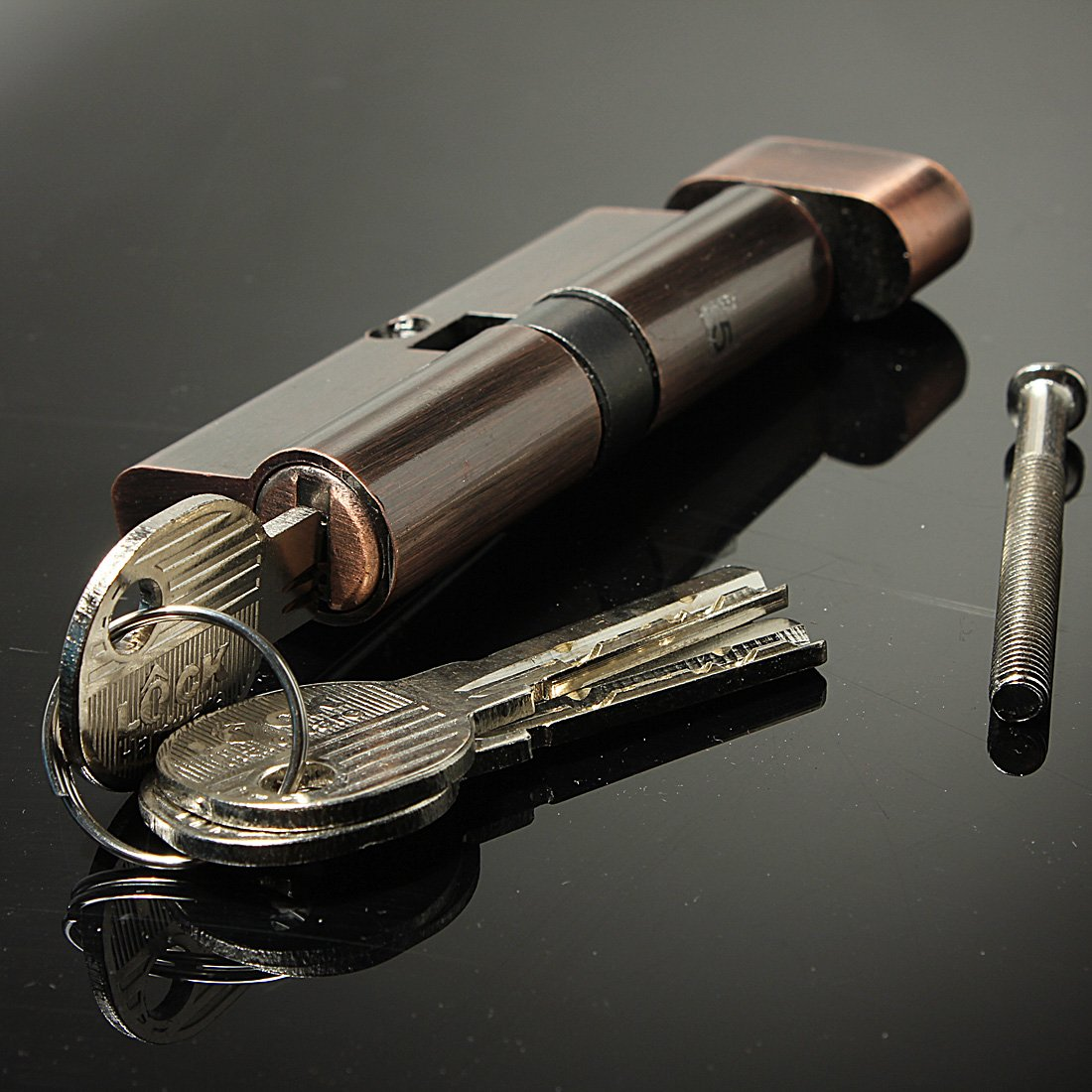 High Quality 70mm Hold Hand Locks Lock Cylinder Brass Lock Core Red copper