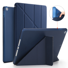 Smart Case For New iPad 9.7 2018 Version Stand PU Leather Cover Soft TPU Silicone Bottom For New iPad 9.7 2017