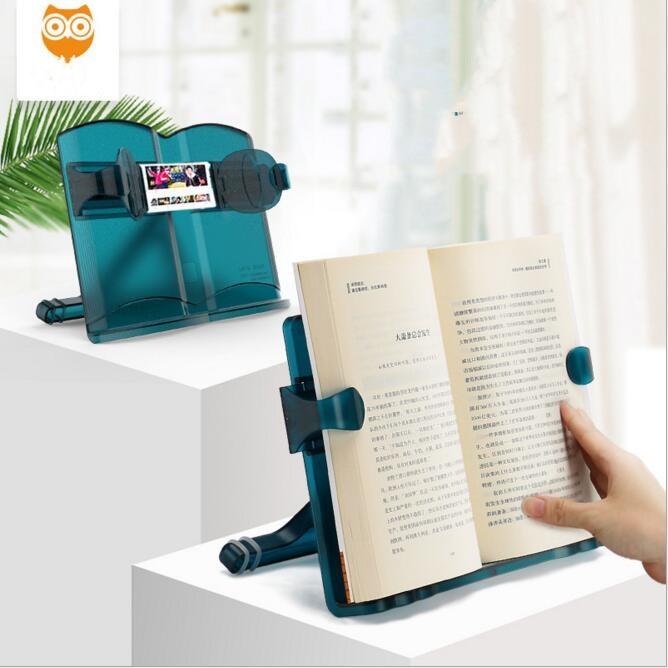 Creative Multifunctional Adjustable Book Reading Holder Bookshelf Laptop Mobile Phone Book Stand Holder Shelf Kids Birthday Gift