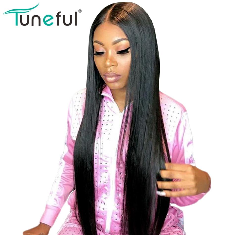 Avant de lacet Perruques de Cheveux Humains Droite Pré Pincées Délié Avec Bébé Cheveux 10-28 pouce 150% Remy Malaisienne Droite perruques de Cheveux humains