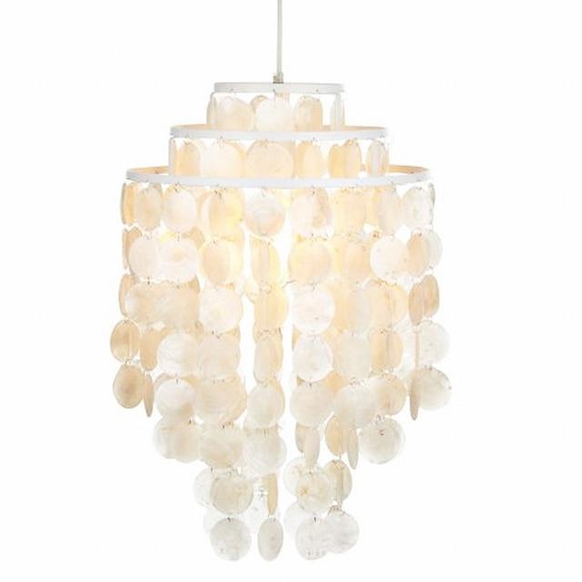 3 circle loft modern white natural seashell chandeliers lustres