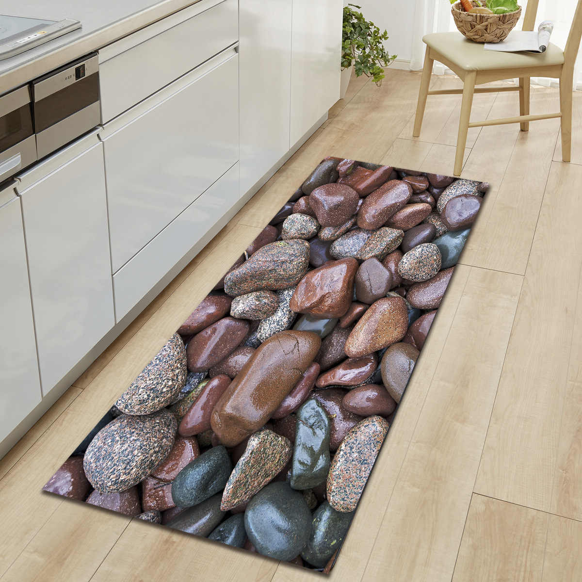 Zeegle tapete de cozinha tapetes antiderrapantes tapetes de mesa absorvente tapetes de cozinha macio 3d impresso
