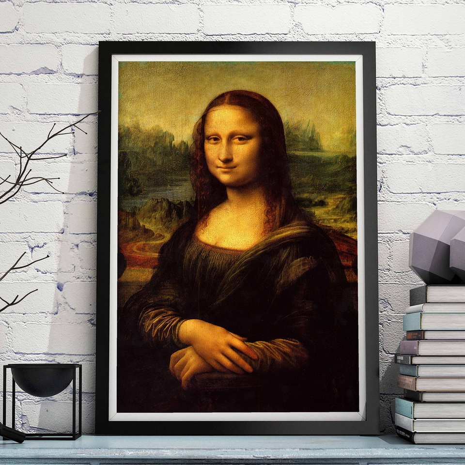 Leonardo da Vinci Mona Lisa Oil Canvas Painting Wall Art